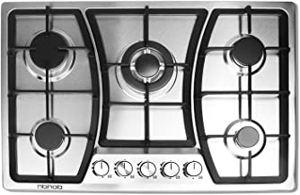 30 inches Gas Cooktop 5 Burners Gas Stove gas hob stovetop Stainless Steel Cooktop 5 Sealed Burners Cast Iron Grates Built...