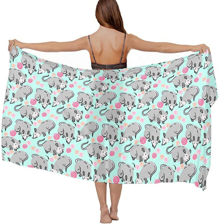 NiYoung Womens Sarong Beach Swimsuit Bikini Chiffon Cover Up Wrap Fashion Shawl Wrap