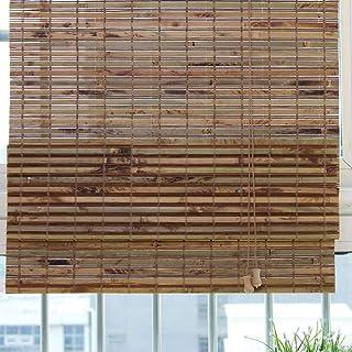 SU-AMEI Persianas enrollables Exterior, Persiana Enrollable de bambú marrón, persianas Opacas Verticales, Cortina de bambú for Puerta, Patio Exterior, galería, balcón (Size : 60 * 160cm)