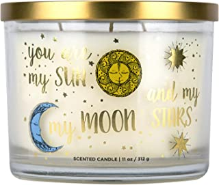 romascape Home is Where The Heart is Scented Candle, Soy Wax Blend, White, 11-Ounce