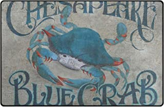 ATMAYW Area Rug Chesapeake Bay Blue Crab Art Polyester Area Rug Mat for Living Dining Dorm Room Bedroom Home Decorative