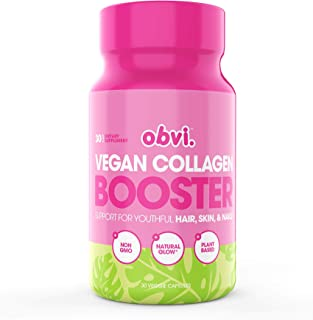 Obvi Vegan Collagen Booster, Support for Hair, Skin & Nails, Reduce Wrinkles, Digestive Health (30 Servings)