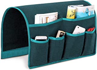 Joywell Sofa Armrest Organizer, Couch Arm Chair Caddy with 6 Pockets for Magazine, Books, TV Remote Control, Cell Phone, iPad (Dark Teal)
