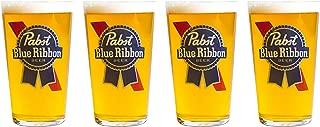 Pabst Blue Ribbon Beer Glasses Set of 4