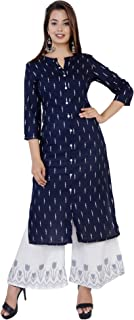 Kurti Hub Women's Printed A-Line Kurta and Palazzo Set.
