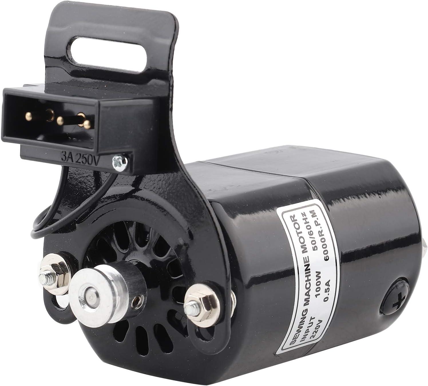 1 Uds 220V 100W Motor de Máquina de Coser para el Hogar, Juego de Motor de Costura de 6000 RPM Soporte K 0,5 AMP en el Interior Contiene Controlador Electrónico