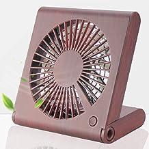 Desk Fan, Small USB Fan, Mini Personal Fan Portable Fan with 3 Speeds Adjustable Powerful Airflow Rechargeable Battery Ope...