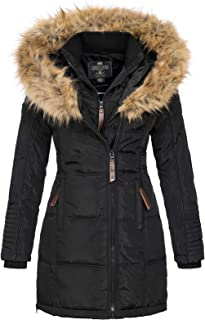 Geographical Norway Belissima - Chaqueta de invierno para mujer con capucha de piel XL