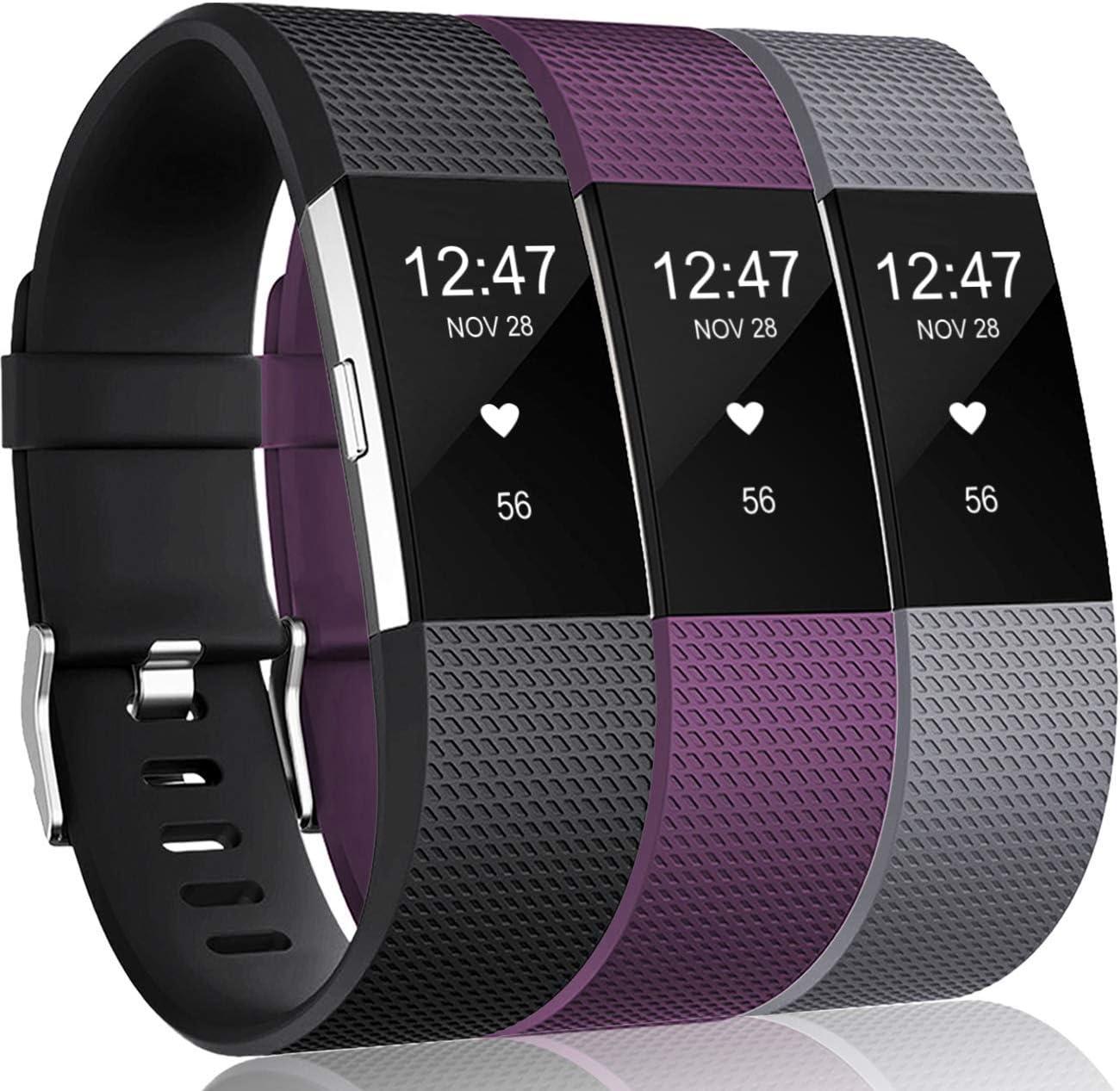 3 Mallas De Reloj Fitbit Charge 2 Hr Talle S