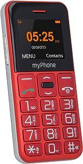 myPhone Halo Easy czerwony, telefon klawiszowy dla seniorów, duże przyciski, kolorowy wyświetlacz 1,77 cala, przycisk SOS,...