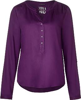 44 Damen Tunika Bluse Shirt  Blusenshirt Farbe Beere Rose Gr