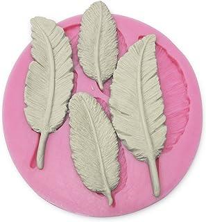 Molde De Silicona Forma con Hojas 3D para fondant, azúar estirado, helado, porcelana
