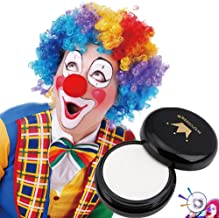 CCbeauty Special Effects White Clown Makeup Pressed Powder Compact Cosplay Gothic Vampire Zombie Concealer