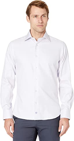 Trim Fit Basketweave Dress Shirt