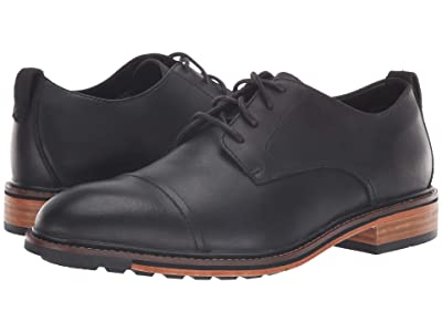 Bostonian Costigan Cap WP (Black Leather) Men