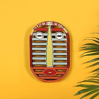 Karo Tribal Red Wall Decor Mask (5.7x0.2x9)