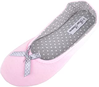 Absolute Footwear Womens Slip On Ballerina Style Slippers/Shoes/Pumps with Bow Design
