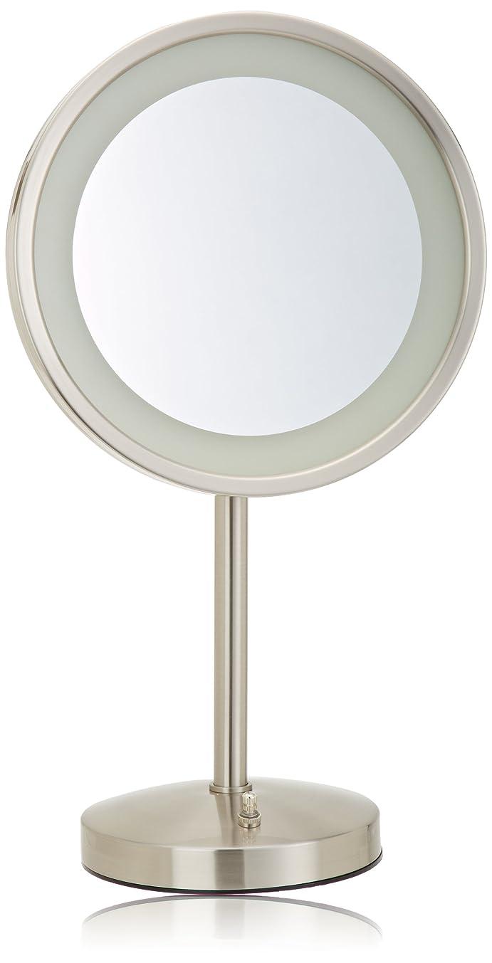 公然と歩く瞳Jerdon(ジェルドン) / HL1015NL (ニッケル) ライト付拡大鏡 [鏡面 直径24cm] 【5倍率】 卓上型テーブルミラー