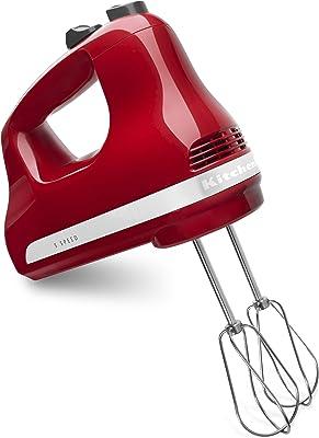 KitchenAid 5-Speed Ultra Power Hand Mixer, Empire Red