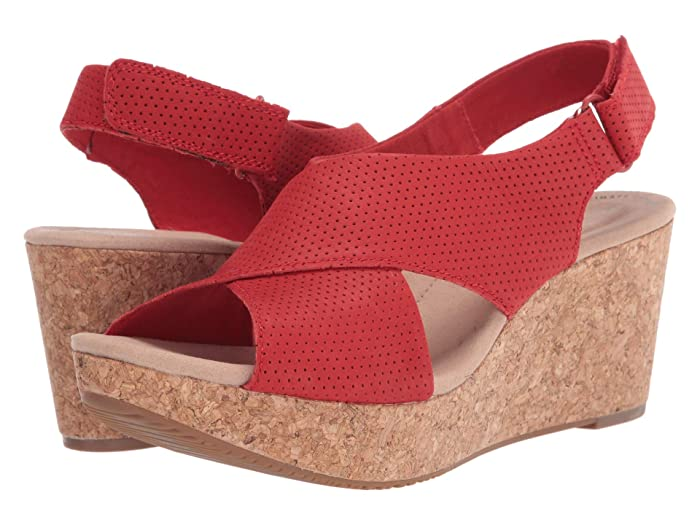 Clarks  Annadel Parker (Red Suede) Womens Shoes
