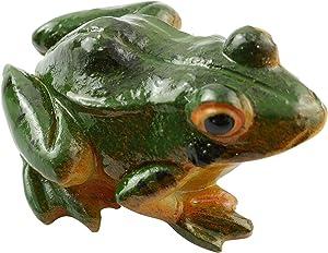LQ Industrial 3D Frog Statue Mini Lifelike Frog Animal Resin Sculpture Indoor Outdoor Art Figurine Ornaments for Garden Patio Yard Micro Landscape Fairy Park Decorantion