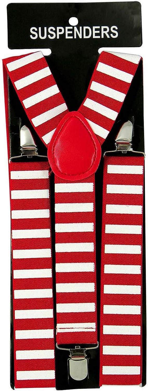 Suspenders-Elf, Red & White