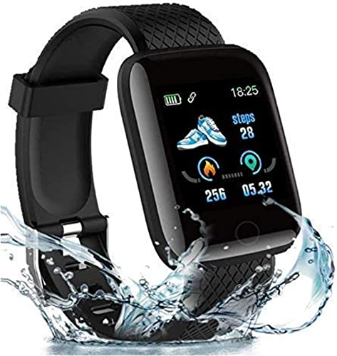 Texton 2 1 Years Warranty 116 Plus Smart Watch 1 3 Full Touch Men Women Fitness Tracker Blood Pressure Heart Rate Monitor Lite Waterproof Exercise Smartwatch for All Boys Girls
