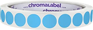 ChromaLabel 1/2 Inch Round Permanent Color-Code Dot Stickers, 1000 Labels per Roll, Light Blue