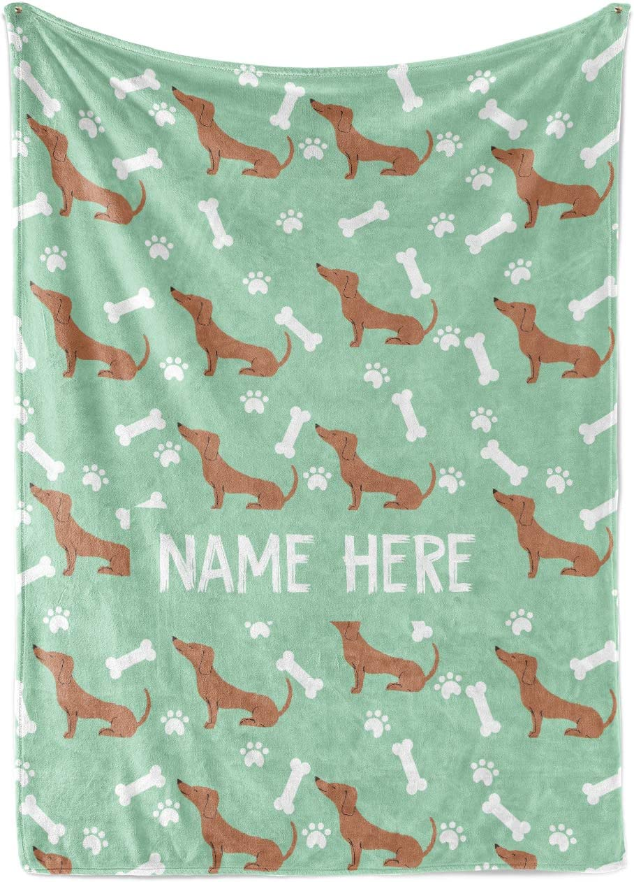 Max 67% OFF Personalized Custom Dachshund Fleece and Blanket fo Throw Max 69% OFF Sherpa