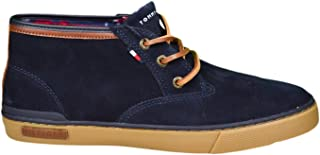 Baskets montantes Tommy Hilfiger Harrington en daim bleu