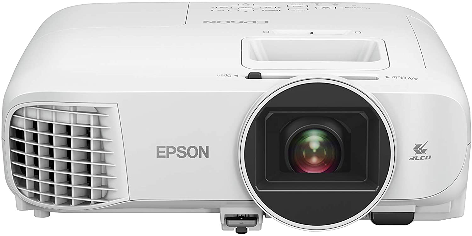 Epson Home Cinema 2200 3-chip 3LCD 1080p Projector, Built-in Android TV & Speaker, Streaming/Gaming/Home Theater, 35,000:1 Contrast, 2700 lumens Color and White Brightness, HDMI, White