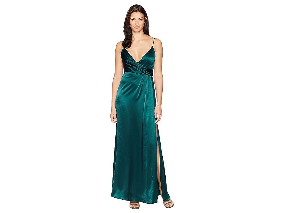 JILL JILL STUART Satin Back Crepe Slip Dress (Spruce) Women