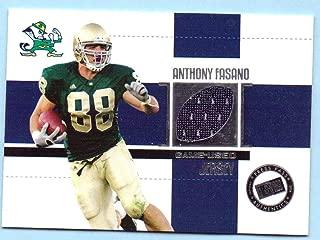 Anthony Fasano 2006 Press Pass College Game Worn Jersey #JC-AF - Notre Dame Fighting Irish