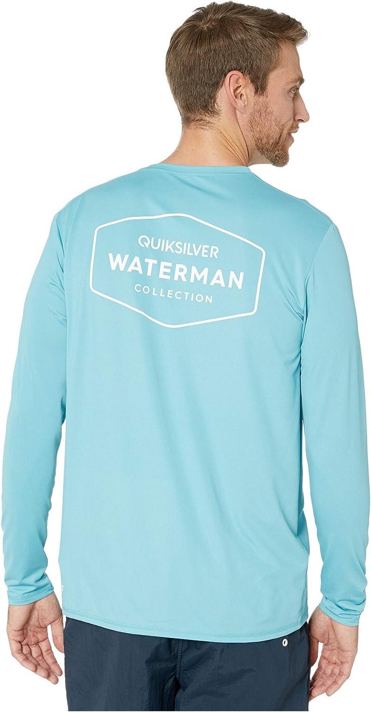 Quiksilver Waterman Men's Gut Check LS Long Sleeve Rashguard SURF Shirt, Blue, X-Large : Clothing, Shoes & Jewelry