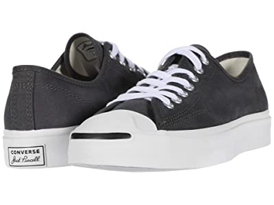 Converse Jack Purcell Twill Ox (Thunder Grey/Black/White) Shoes