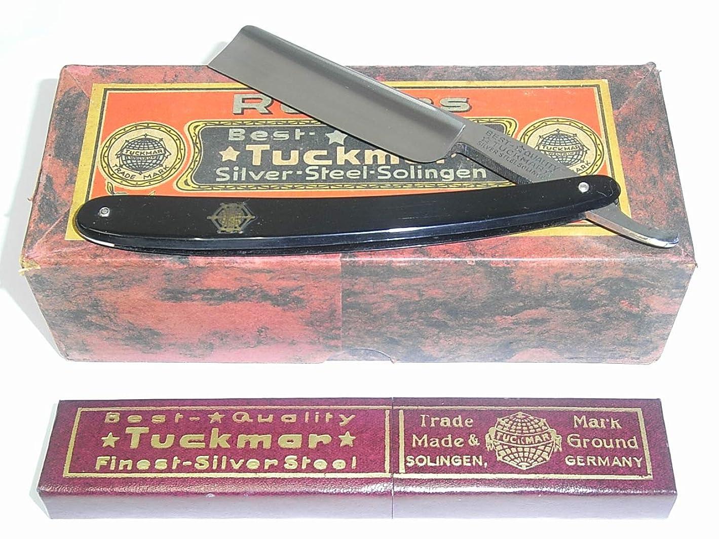 以来移住する繕う西洋カミソリ ゾーリンゲン TUCKMAR ドイツ製 刃渡72mm×刃幅6/8インチ 外箱付