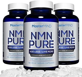 NMN PURE (300mg)   Nicotinamide Mononucleotide Supplement   NAD Booster & Antioxidant Pills   Boost Energy, Metabolism, Anti Aging, Muscle Recovery, Brain Focus & Reduce Stress + Anxiety I 60 (3 Pack)