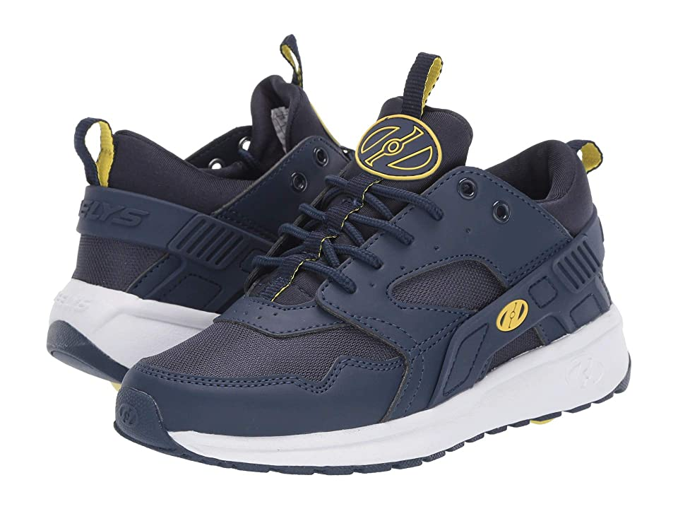 Heelys Force (Little Kid/Big Kid/Adult) (Navy/Yellow) Boys Shoes