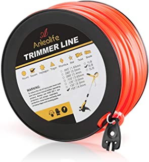 Anleolife 3-Pound Commercial Square .155-Inch-by-280-ft String Trimmer Line in Spool,with..