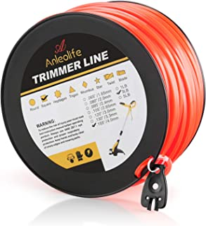 Anleolife 3-Pound Commercial Square .155-Inch-by-280-ft String Trimmer Line in Spool,with Bonus Line Cutter, Orange