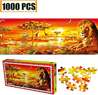Jigsaw Puzzles 1000 Pieces Animal Lion Giraffe Zebra Wild World Artwork Art for Teen Adult Grown Up Puzzles Large Size Toy Games Jigsaw Puzzle 1000 PCS Home Decor Animal world
