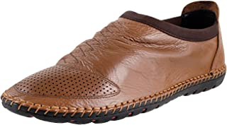 Mochi Men Leather Flat Shoes (19-3609)