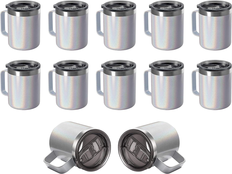 12oz 予約 Stainless Steel Insulated Coffee Handle Wa Mug Double with 即納送料無料