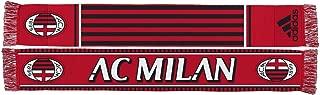 adidas AC Milan Soccer Futbol Authentic S387 Jacquard Team Scarf