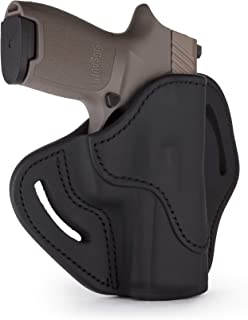 1791 GUNLEATHER SIG P320c Holster, Right Hand OWB Leather Gun Holster for Belts Also fits HK VP9sk, HK P2000, HK 45c, SIG P229c and Most compacts with Rails BH2.4S