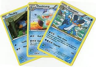 Evolution Set - SWAMPERT MARSHTOMP Mudkip - Primal Clash 35/160 - Rare Card LOT