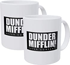 Willcallyou Pack Of 2 Dunder Mifflin Work Office 11 Ounces Funny Coffee Mug
