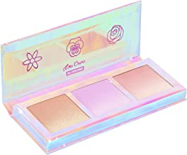Lime Crime Hi-Lite Blossom Highlighter Palette - Warm-N-Cool Iridescent Powder Trio - For All Skin Tones - In 3 Shades, Gold, Lavender & Sunset - For Face or Body - Vegan