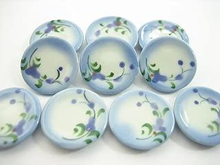 10x20mm Orchid Flower Paint Plate Dish Dollhouse Miniature Ceramic 13205