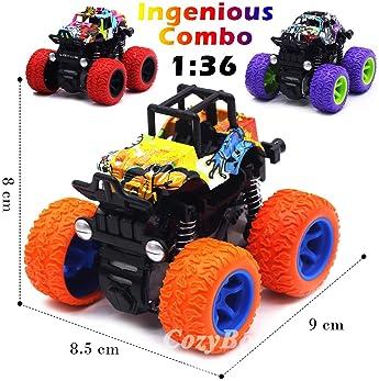 Monster Trucks Toys for Boys - Friction Powered 3-Pack Mini Push and Go Car Truck Jam Playset for Boys Girls Toddler ...